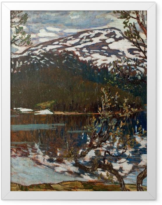 Gerahmtes Poster Helmer Osslund - Frühlingstag am Rensjön-See nahe Åre - Reproductions