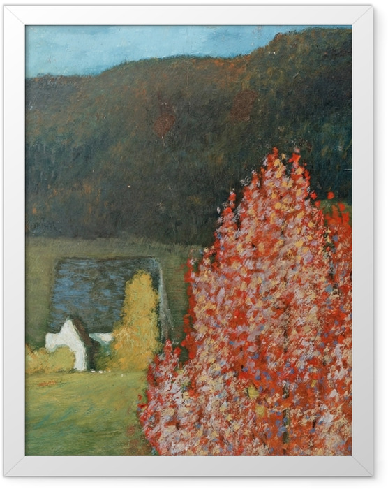 Gerahmtes Poster Helmer Osslund - Herbstlandschaft mit Bäumen - Reproductions