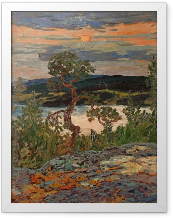 Plakat w ramie Helmer Osslund - Wieczór w Ångermanland - Reproductions