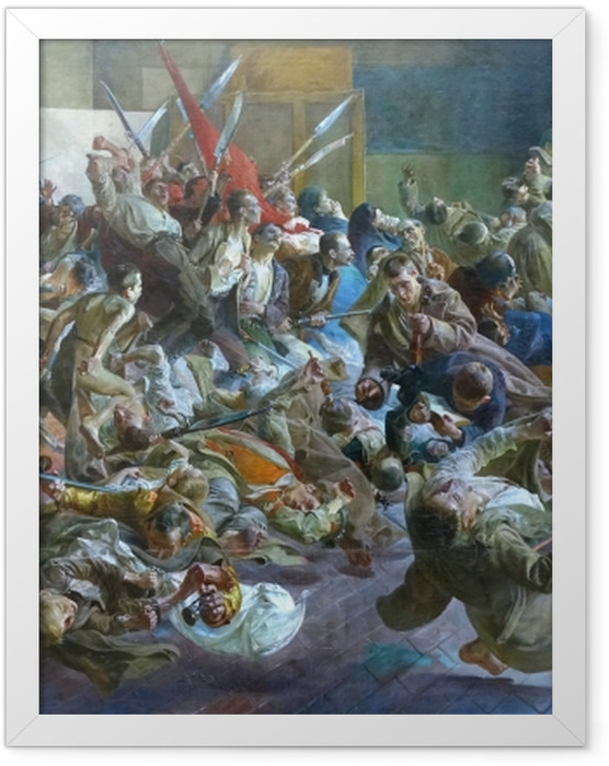 Gerahmtes Poster Jacek Malczewski - Melancholie - Reproductions