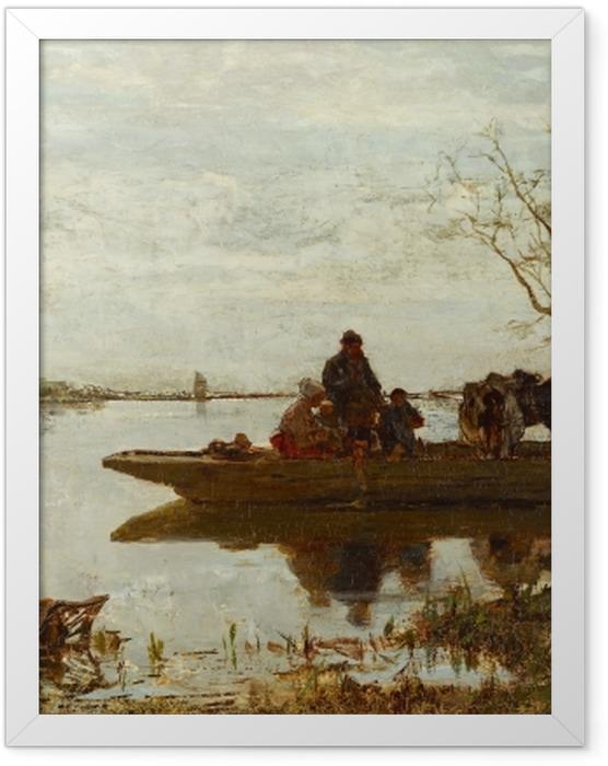 Poster en cadre Jacob Maris - Traversée de ferry - Reproductions