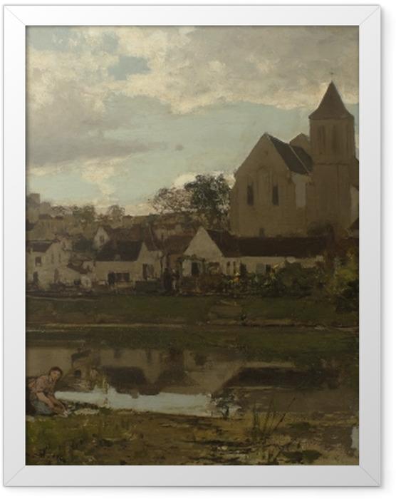 Plakat w ramie Jacob Maris - Widok na Montigny - Reproductions