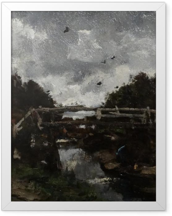 Gerahmtes Poster Jacob Maris - Holzbrücke - Reproductions