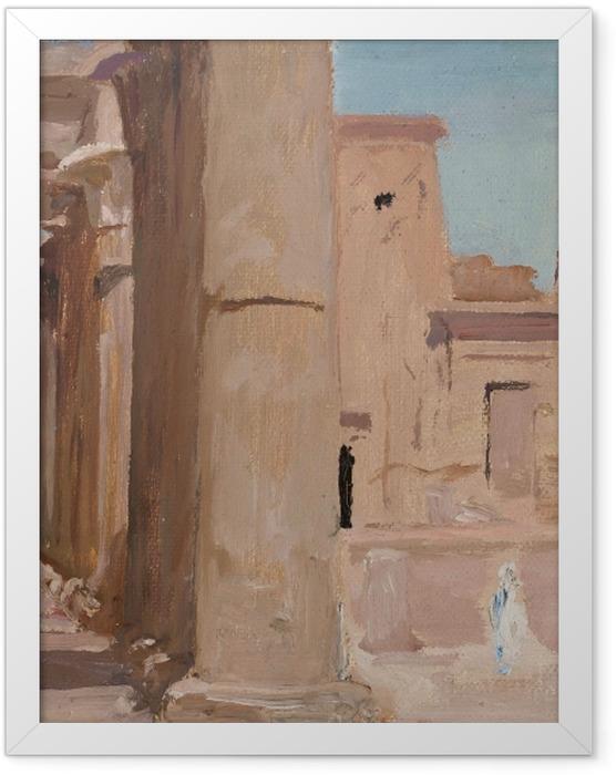 Gerahmtes Poster Jan Ciągliński - Tempel. Von einer Reise nach Ägypten - Reproductions