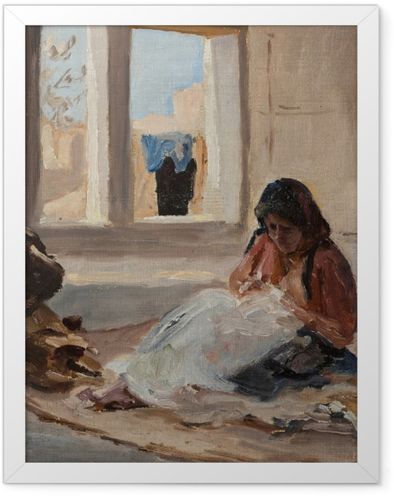 Plakat w ramie Jan Ciągliński - Nazareth. Z podróży do Palestyny - Reproductions