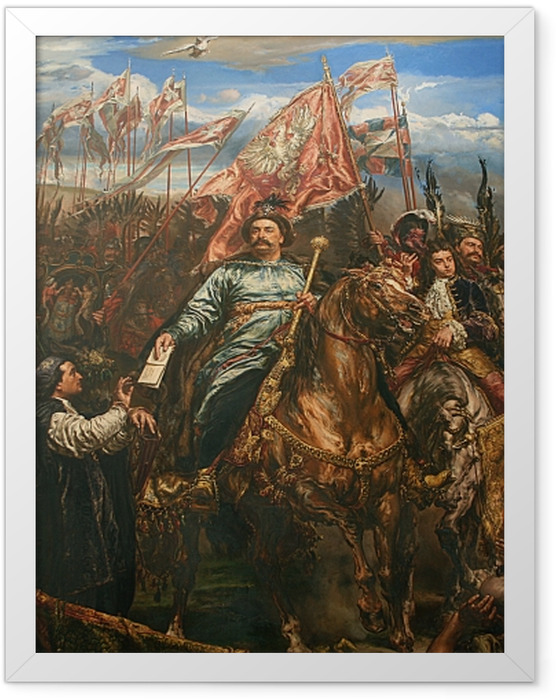 Plakat w ramie Jan Matejko - Jan Sobieski pod Wiedniem (fragment) -