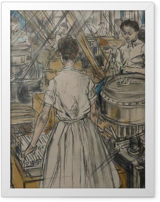 Gerahmtes Poster Jan Toorop - Kerzenfabrik in Gouda, 1 - Reproductions