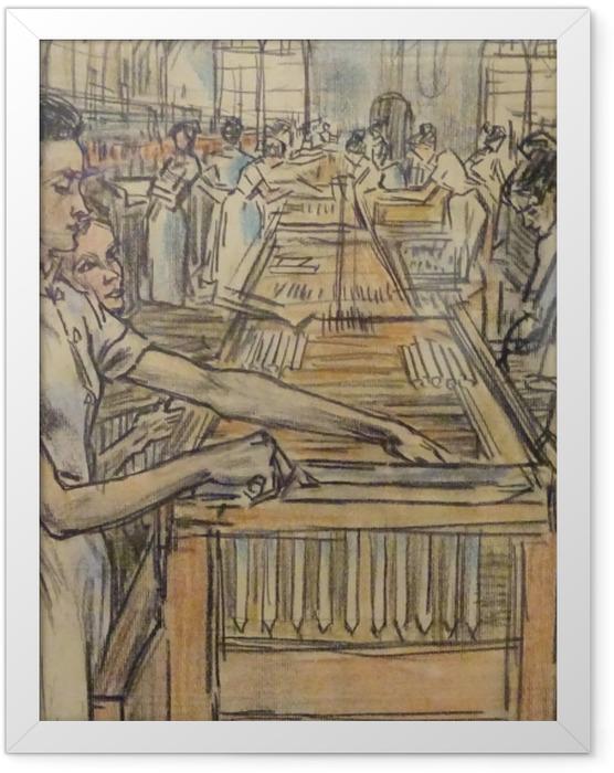 Plakat w ramie Jan Toorop - Fabryka świec w Gouda, 2 - Reproductions