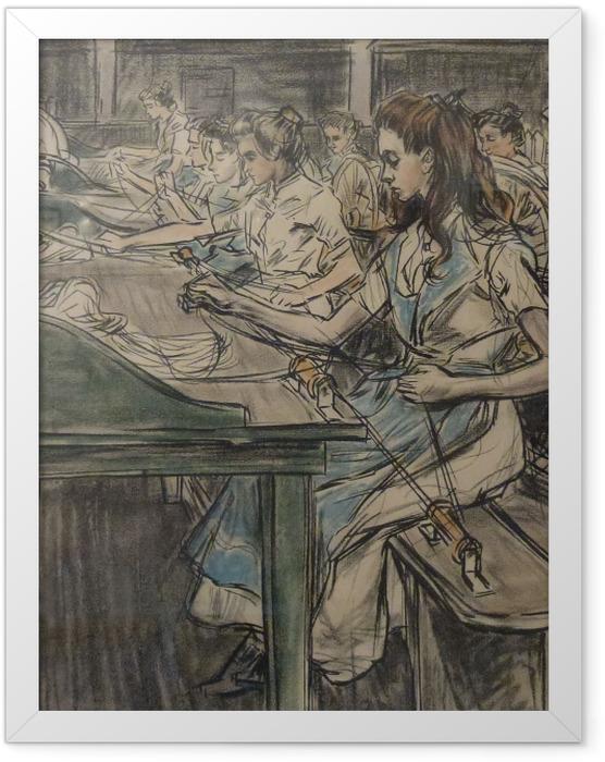 Poster en cadre Jan Toorop - Fabrique de bougies à Gouda, 3 - Reproductions