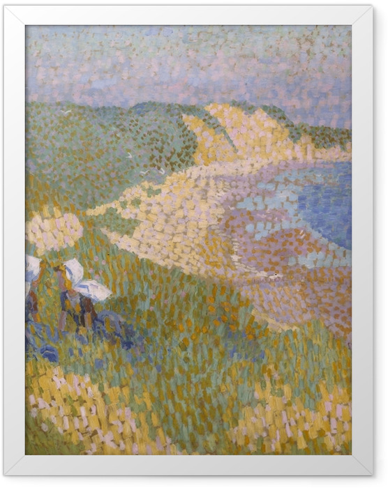 Gerahmtes Poster Jan Toorop - Dünen und das Meer in Zoutelande - Reproductions