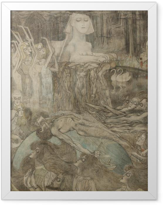 Gerahmtes Poster Jan Toorop - Sphinx - Reproductions