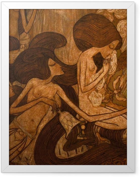 Gerahmtes Poster Jan Toorop - Die drei Bräute - Reproductions