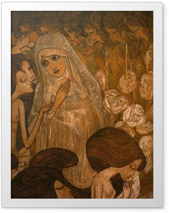 Plakat w ramie Jan Toorop - Trzy panny młode II - Reproductions