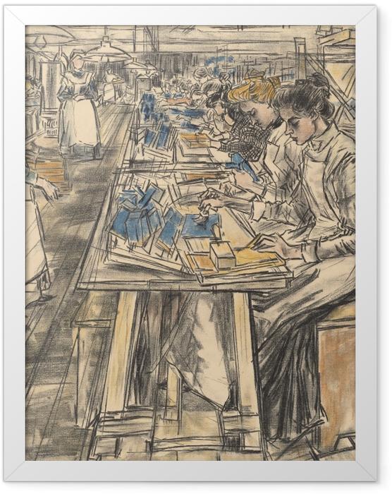 Gerahmtes Poster Jan Toorop - Kerzenfabrik in Gouda, 5 - Reproductions