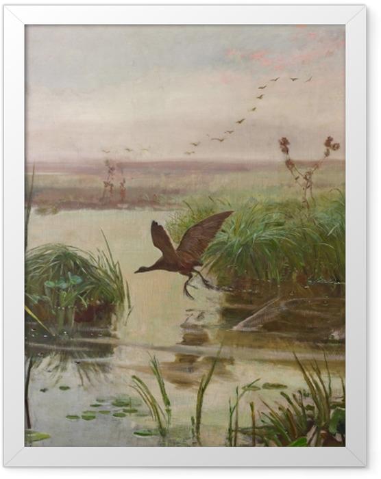 Plakat w ramie Józef Chełmoński - Kurka wodna - Reproductions