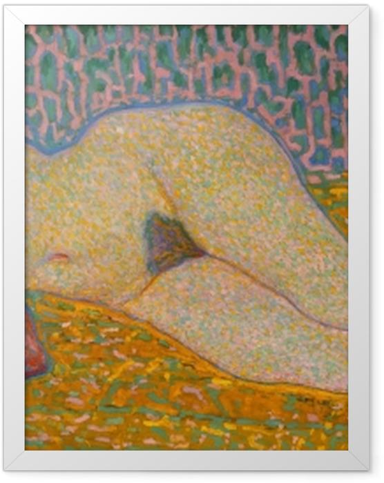 Poster en cadre Leo Gestel - Nu couché - Reproductions