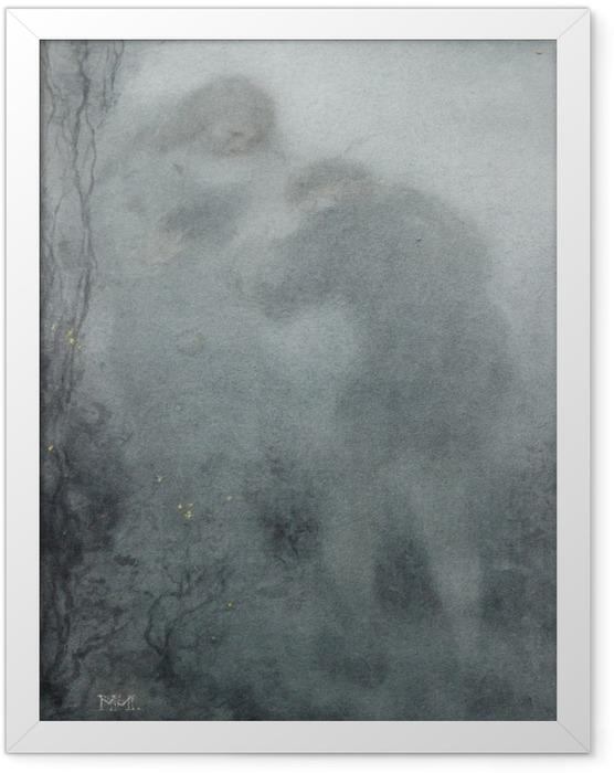 Gerahmtes Poster Matthijs Maris - Figuren im Wald - Reproductions