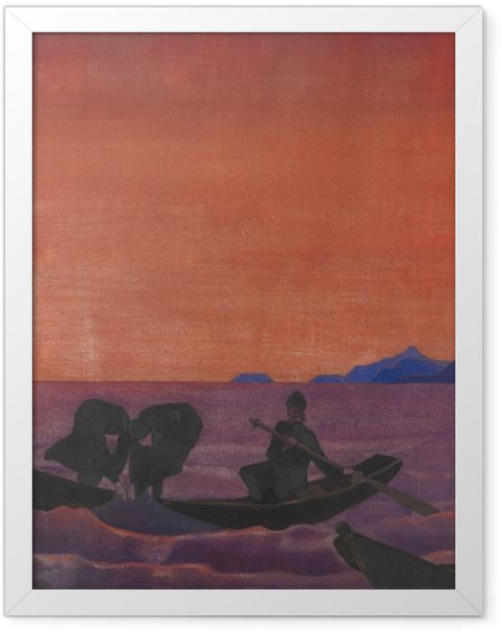 Gerahmtes Poster Nicholas Roerich - Und wir fischen weiter - Nicholas Roerich