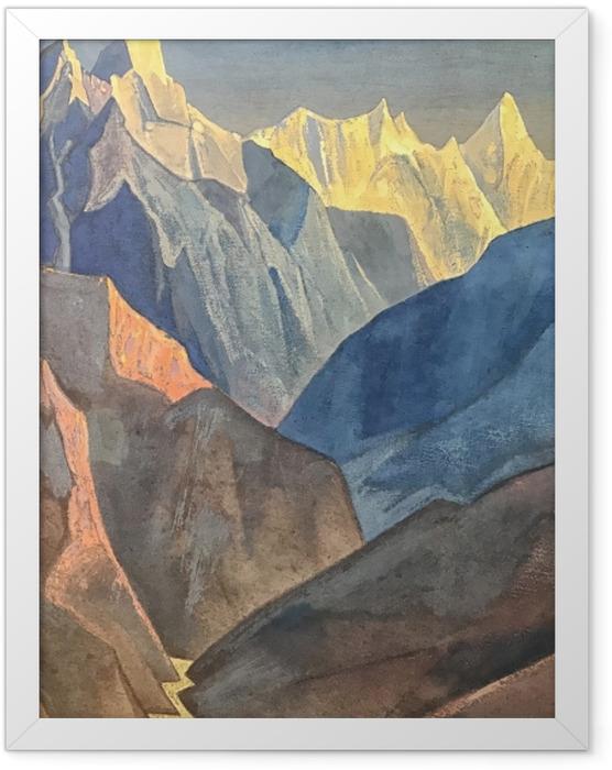 Plakat w ramie Nikołaj Roerich - Studium gór - Nicholas Roerich