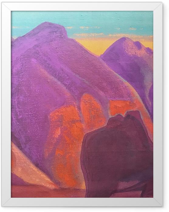 Gerahmtes Poster Nicholas Roerich - Studium der Berge II - Nicholas Roerich