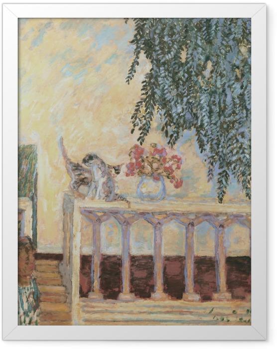 Plakat w ramie Pierre Bonnard - Koty na balustradzie - Reproductions
