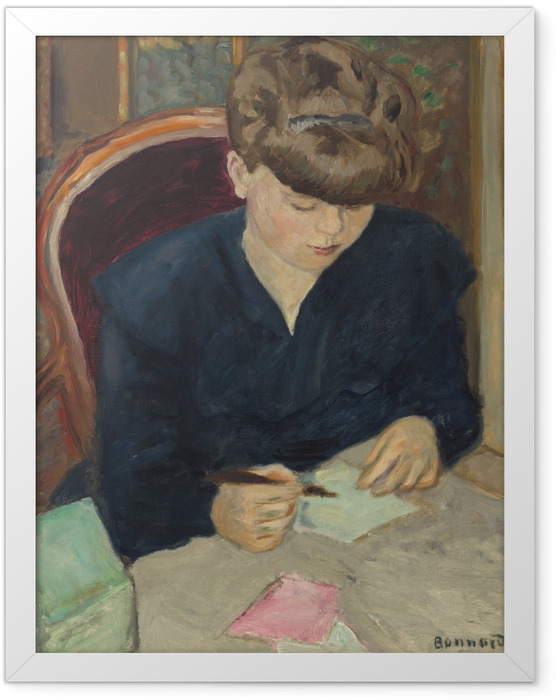 Gerahmtes Poster Pierre Bonnard - Der Brief - Reproductions