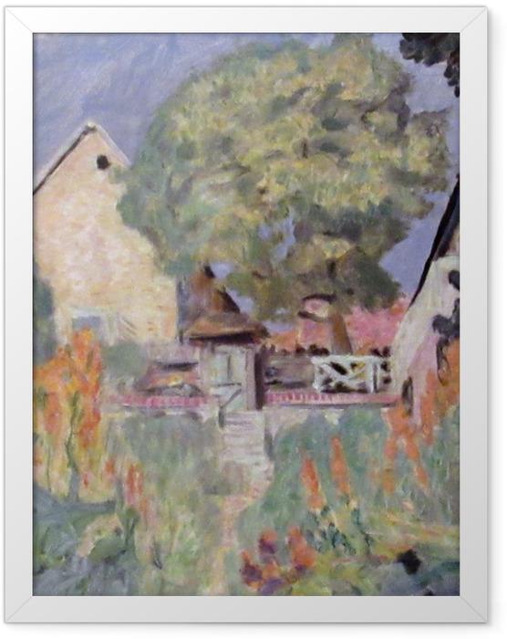 Plakat w ramie Pierre Bonnard - Mój dom w Vernon - ogród - Reproductions