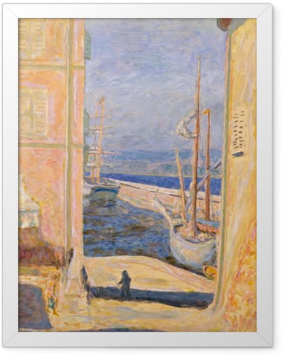 Plakat w ramie Pierre Bonnard - Widok na stary port w Saint -Tropez - Reproductions