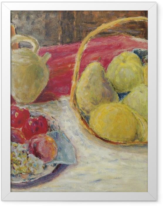 Poster en cadre Pierre Bonnard - Nature morte de fruits dans le soleil - Reproductions
