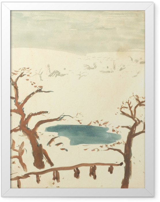 Gerahmtes Poster Pierre Bonnard - Winterlandschaft - Reproductions