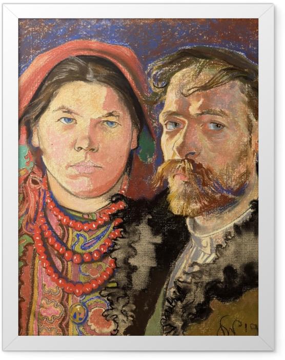 Plakat w ramie Stanisław Wyspiański - Portret artysty z żoną - Reproductions