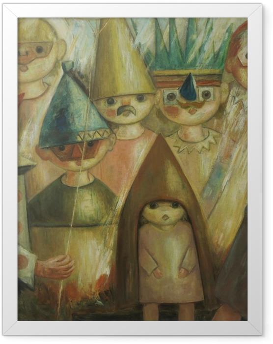 Plakat w ramie Tadeusz Makowski - Maskarada -