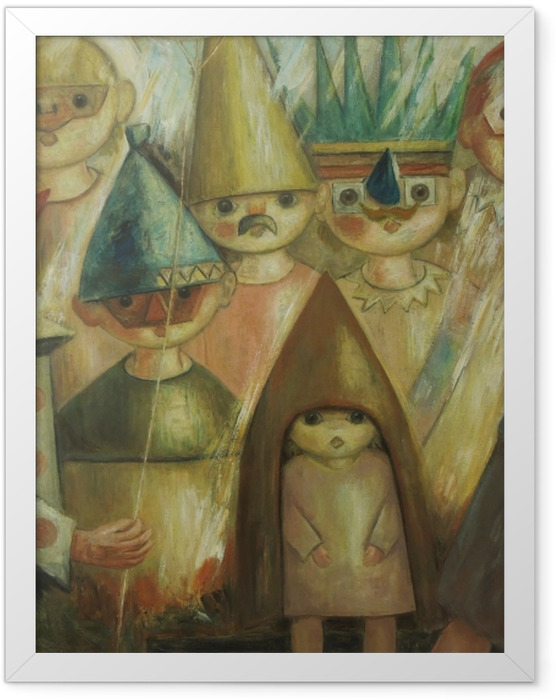 Poster en cadre Tadeusz Makowski - Masquarade -