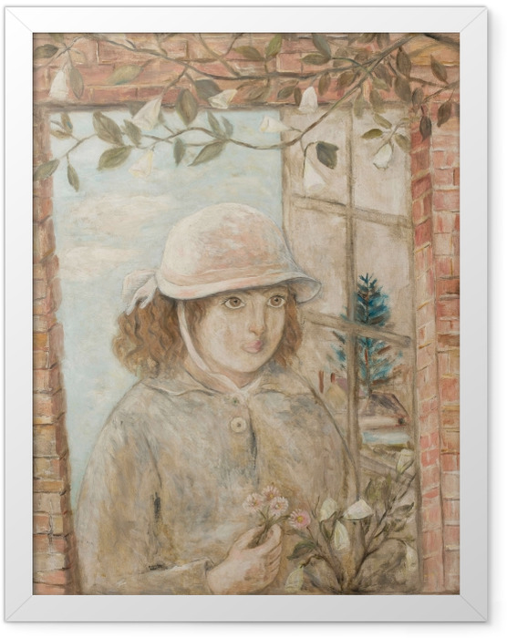 Poster en cadre Tadeusz Makowski - Fenêtre en fleurs - Reproductions