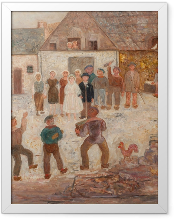 Plakat w ramie Tadeusz Makowski - Wesele na wsi - Reproductions