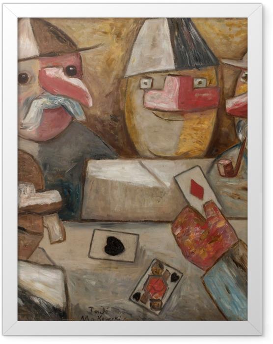 Plakat w ramie Tadeusz Makowski - Gra w karty - Reproductions