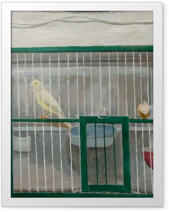 Gerahmtes Poster Tadeusz Makowski - Käfig mit Kanarienvogel - Reproductions