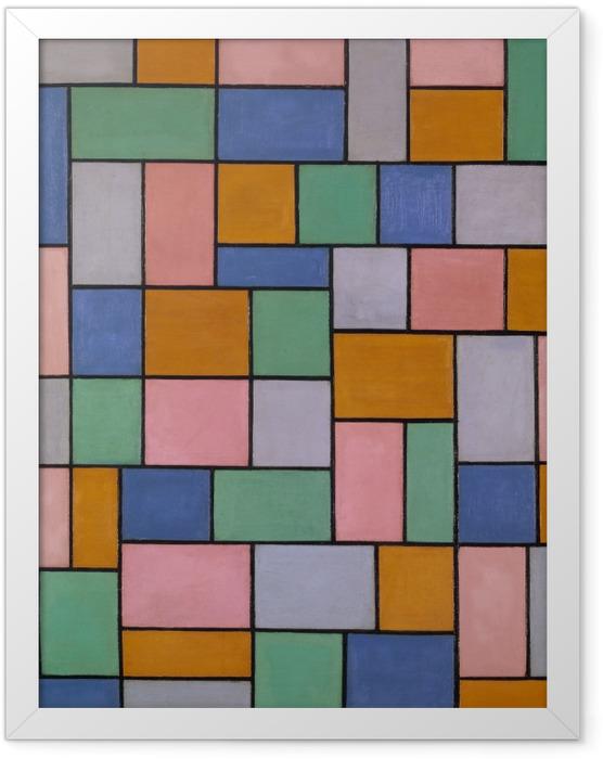 Gerahmtes Poster Theo van Doesburg - Komposition von Dissonanzen - Reproductions
