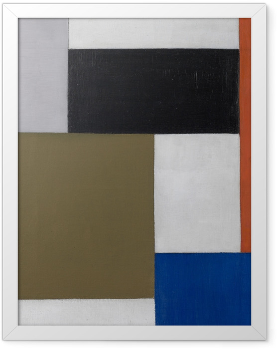Gerahmtes Poster Theo van Doesburg - Komposition 1923-1924 - Reproductions