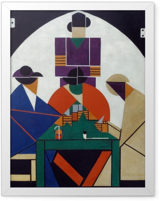 Plakat w ramie Theo van Doesburg - Grający w karty - Reproductions