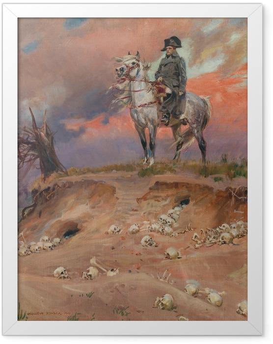 Plakat w ramie Wojciech Kossak - Napoleon na polu bitwy - Reproductions