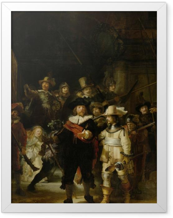 Gerahmtes Poster Rembrandt - Die Nachtwache - Reproduktion