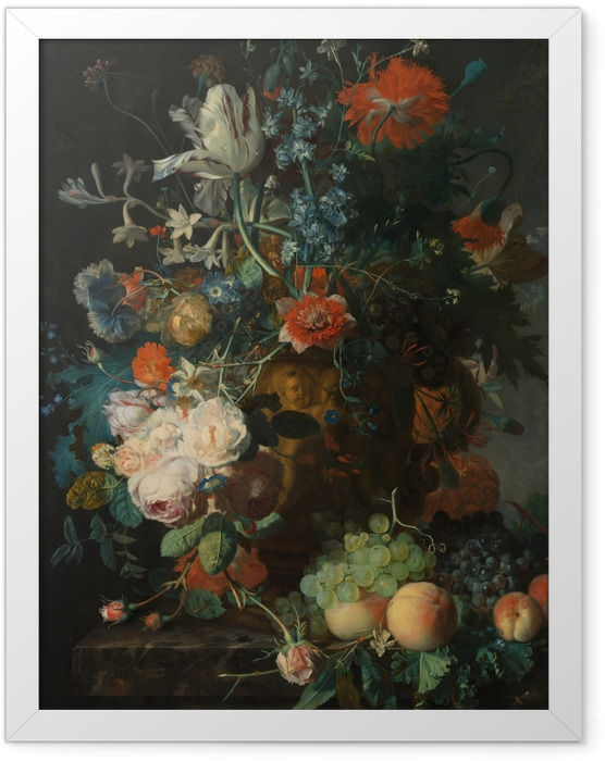 Plakat w ramie Jan van Huysum - Still life with flowers - Reprodukcje