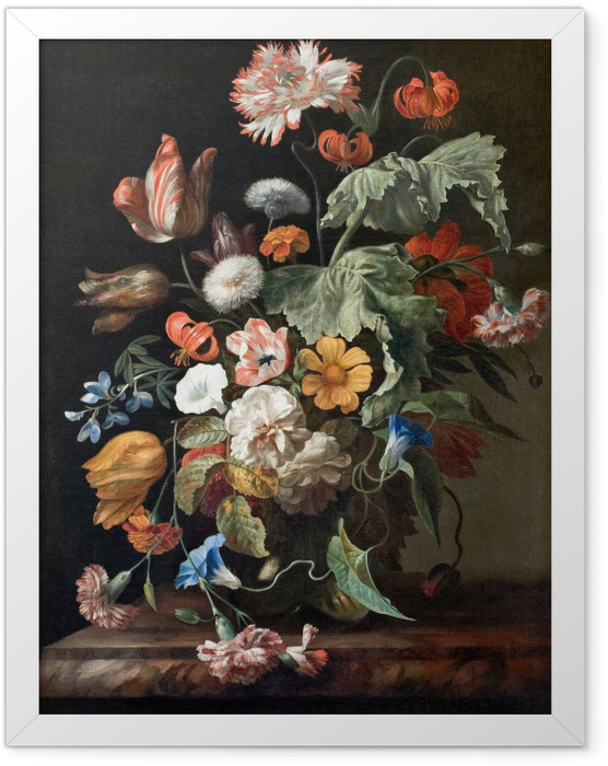 Plakat w ramie Rachel Ruysch - Still-Life with Flowers - Reprodukcje
