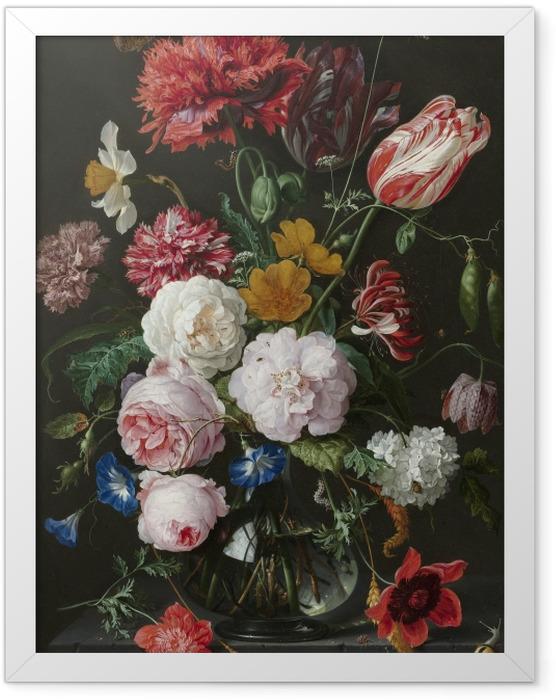 Plakat w ramie Jan Davidsz - Still Life with Flowers in a Glass Vase - Reprodukcje