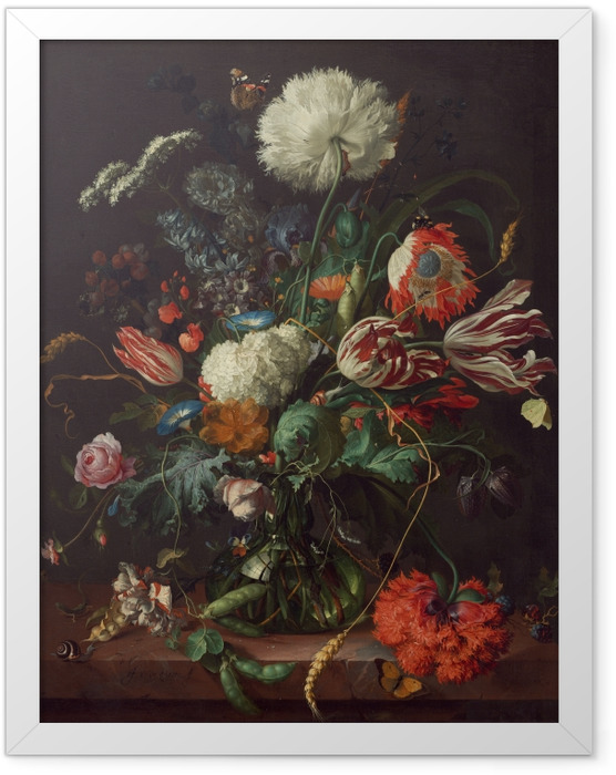 Poster en cadre Jan Davidsz - Vase of Flowers - Reproductions