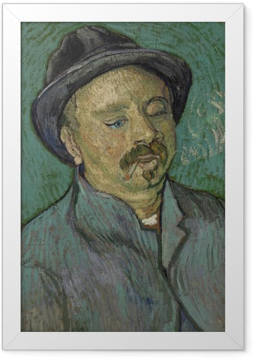 Gerahmtes Poster Vincent van Gogh - Bildnis eines einäugigen Mannes - Reproductions
