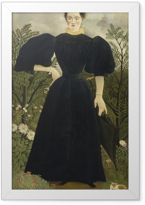 Gerahmtes Poster Henri Rousseau - Frauenbildnis - Reproduktion