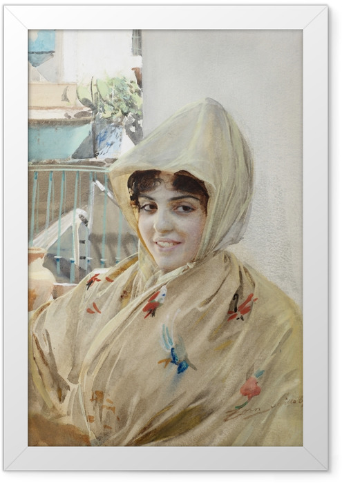 Gerahmtes Poster Anders Zorn - Mathilde - Reproductions