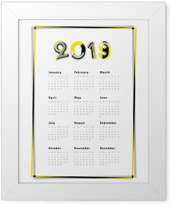 Calendar 2019 Framed Poster - Calendars 2019
